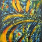 "Maximilian Fliessbach gen. Marsilius - ""Die Schöpfung"" nach Joseph Haydn"" - Olio su tela,142 x > 124cm, 2014."