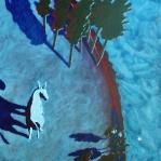 "Tony White - ""Scambiantesi riflessioni"", 50 x 50 cm., acrilico su tela, 2014."