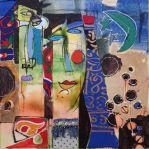 "Assem Abdel Fattah - ""The Moon"", 50 x 50 cm, tecnica mista, 2014"