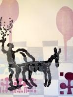 """Roberto Gianinetti - """"Il giardino armonico, studio n°4"""" - xilografia a più matrici, libro d'artista anno 2014."""